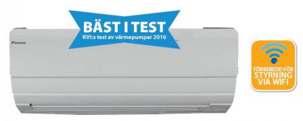 daikin luft vatten värmepump test